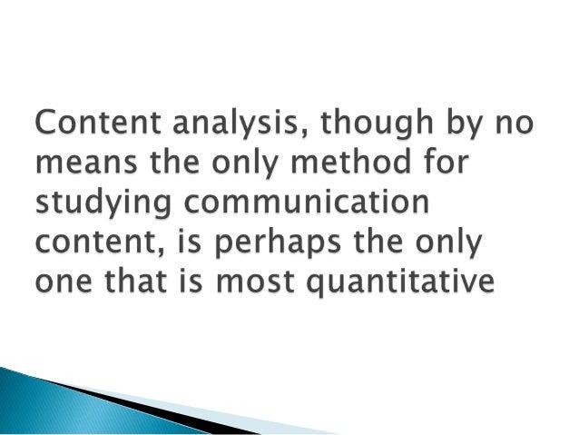 Bernard berelson a content analysis media essay