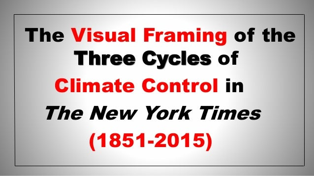 The Visual Framing of the Three Cycles of Climate Control in The New York Times (1851-2015)