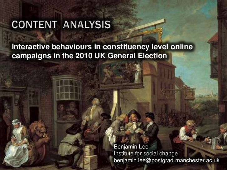 Interactive behaviours in constituency level onlinecampaigns in the 2010 UK General Election                            Be...