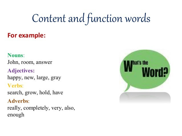 content and function words