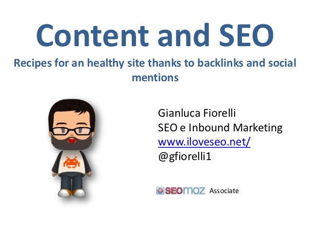 Content and SEORecipes for an healthy site thanks to backlinks and social                        mentions                 ...