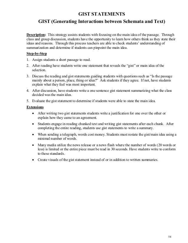 Content area reading strategies ms