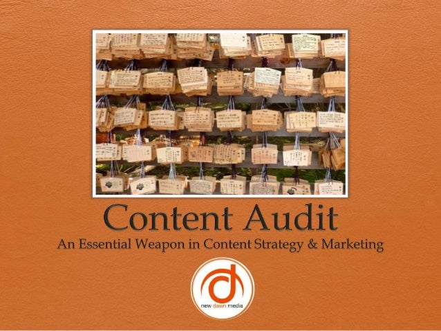 What is a Content Audit?              A content audit is the             process of taking inventory             and evalu...