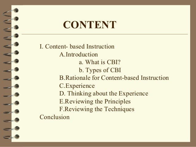 Content Based Instruction