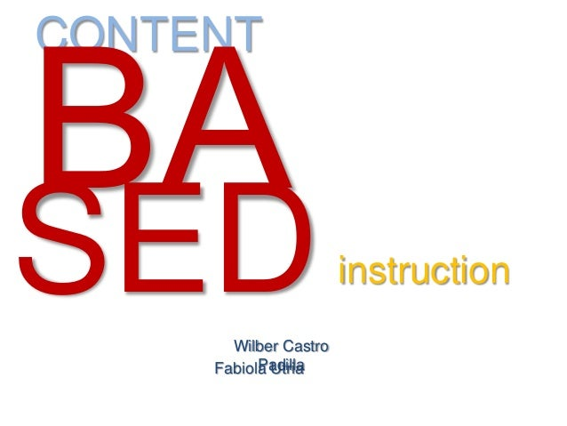 CONTENT Wilber Castro PadillaFabiola Utria instructionSED