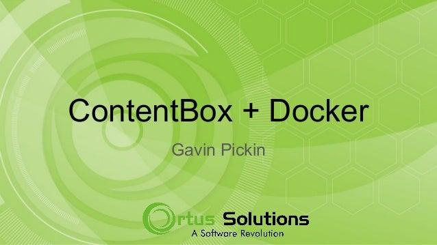 ContentBox + Docker Gavin Pickin