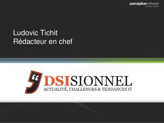 Ludovic Tichit Rédacteur en chef