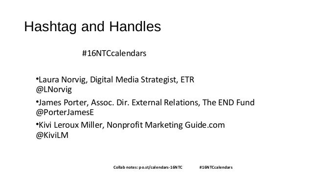 Content Calendars and You: Creating Communications Harmony Slide 2