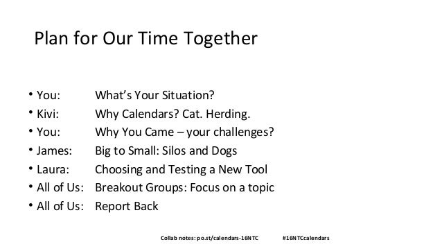 Content Calendars and You: Creating Communications Harmony Slide 3