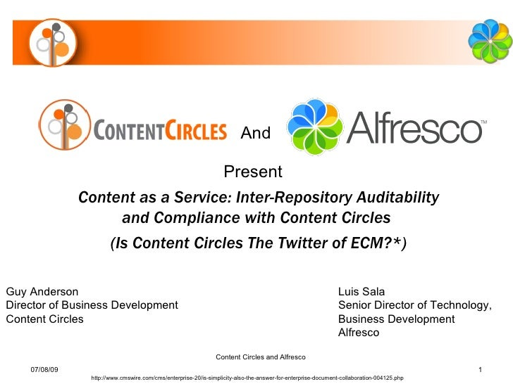 And                                     Present                Content as a Service: Inter-Repository Auditability        ...