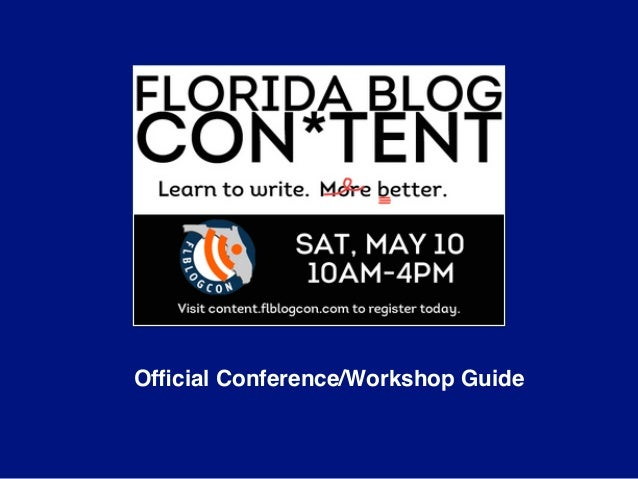 Official Conference/Workshop Guide