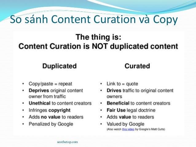 So sánh Content Curation và Copy seothetop.com