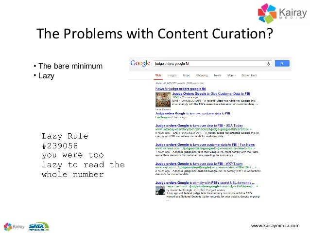Making Content Curation Work for You at SMX Advanced 2013 Slide 3