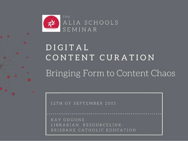 "What is digital content curation? ""Part of an overall strategy to tame information chaos."" Judy O'Connell, 2012. creative ..."