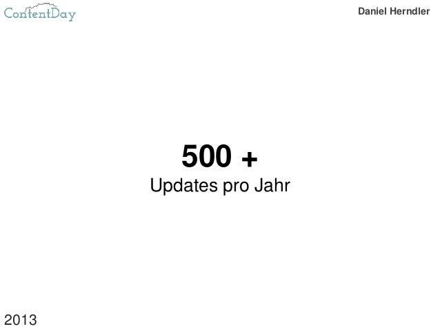 500 + Updates pro Jahr 2013 Daniel Herndler