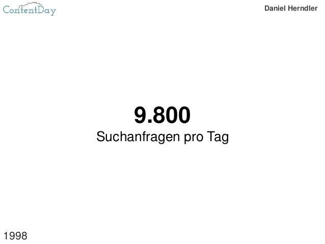 9.800 Suchanfragen pro Tag 1998 Daniel Herndler
