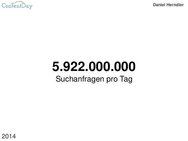 5.922.000.000 Suchanfragen pro Tag 2014 Daniel Herndler