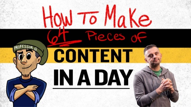 How To Make 64 Pieces Of Content In A Day