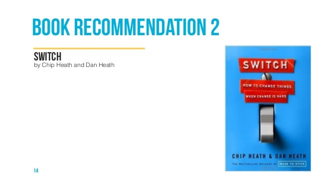 book recommendation 2  switch  by Chip Heath and Dan Heath  14