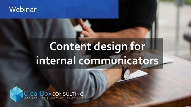 Webinar Content design for internal communicators