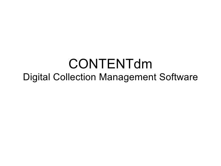 CONTENTdm Digital Collection Management Software