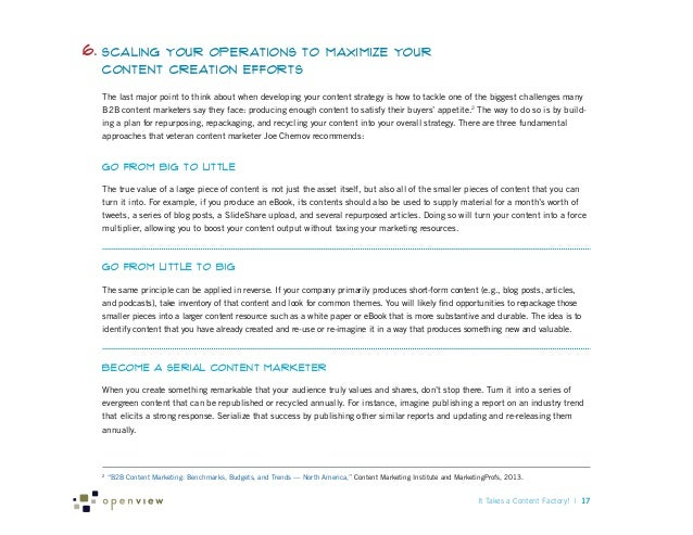 6. Scaling  Your Operations to Maximize Your Content Creation Efforts  The last major point to think about when developing...