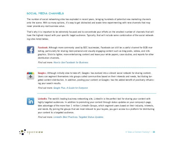 Social Media Channels The number of social networking sites has exploded in recent years, bringing hundreds of potential n...