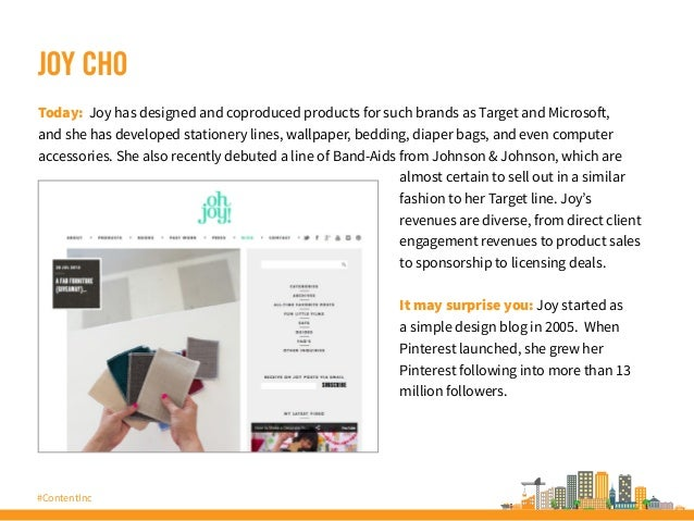 #ContentInc JOY CHO Today: Joy has designed and coproduced products for such brands as Target and Microsoft, and she has d...
