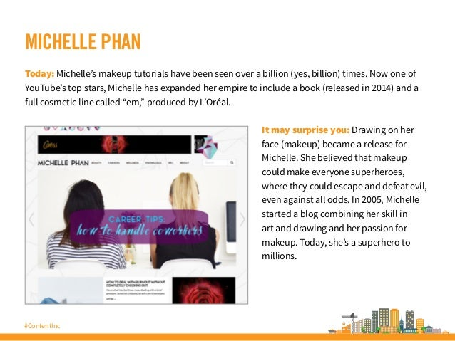 #ContentInc MICHELLE PHAN Today: Michelle's makeup tutorials have been seen over a billion (yes, billion) times. Now one o...