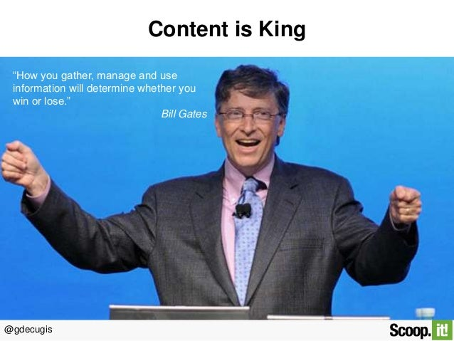 Content is king: easy & simple ways to curate relevant content Slide 2