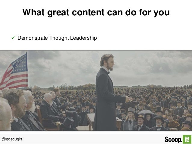 Content is king: easy & simple ways to curate relevant content Slide 3