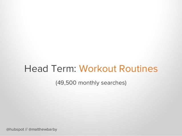 Long Tail Term: Best Ab Workouts for Men @hubspot // @matthewbarby (1,000 monthly searches)