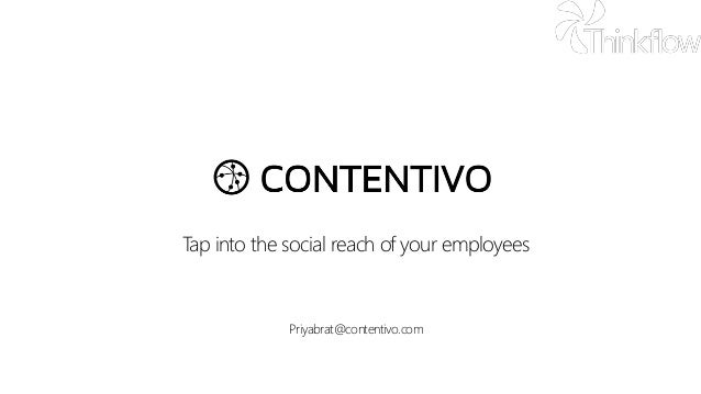 Tap into the social reach of your employees Priyabrat@contentivo.com