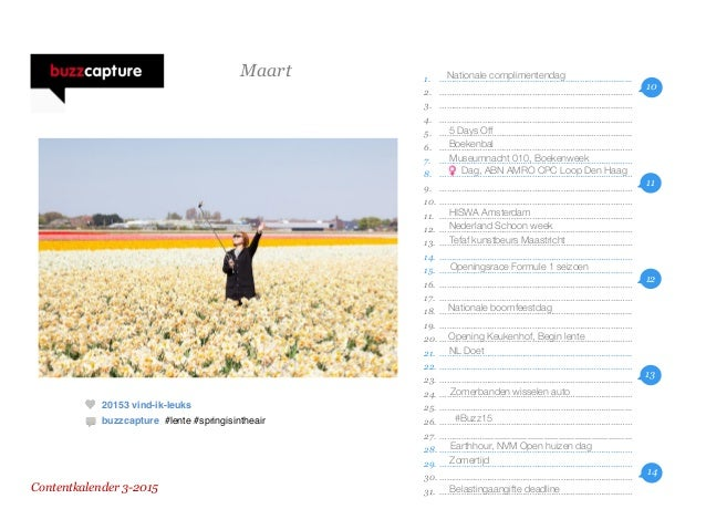Buzzcapture Contentkalender 2015 Slide 3
