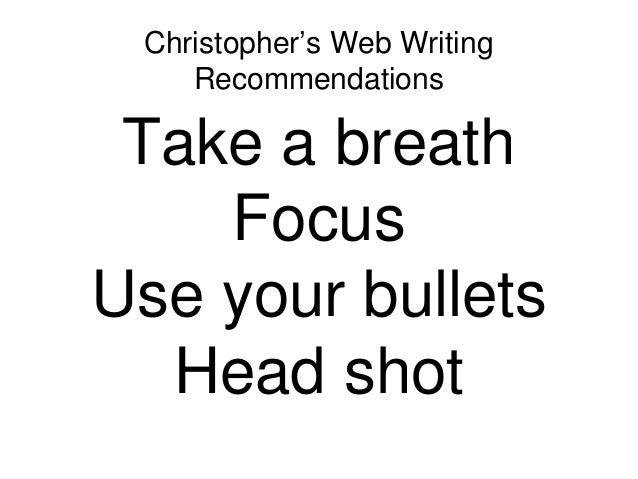 Writing: Head shot