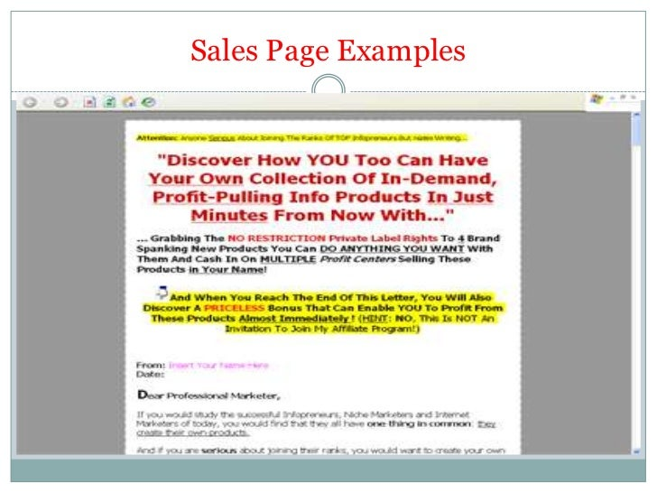 Copy writing-content creation & sales page making tips.