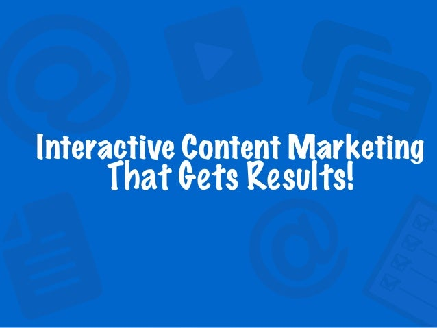 Interactive Content Marketing 