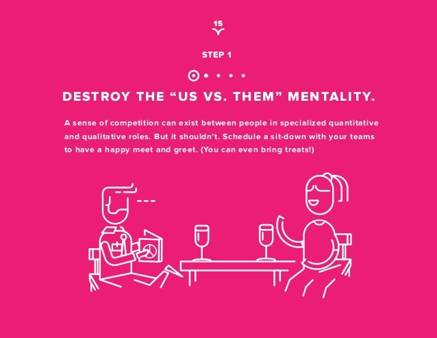 "us vs them mentality So, now that you've read this article, ask yourself if you are guilty of fostering an ""us"" vs ""them"" mentality if you're not sure."