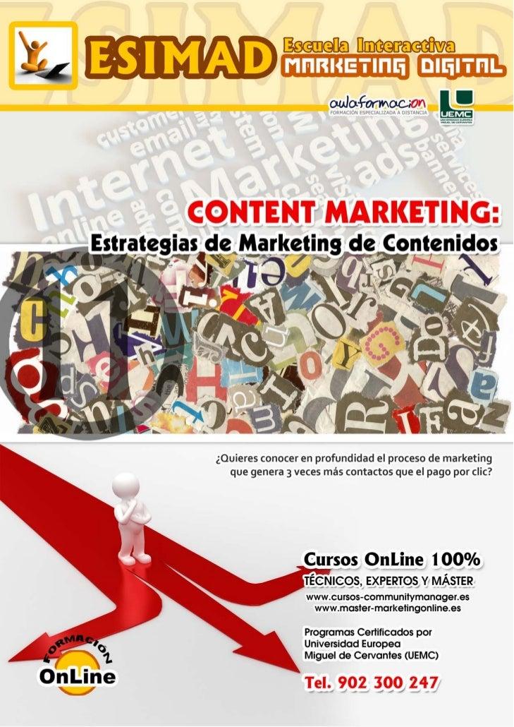 CONTENT MARKETING: estrategias de marketing de contenidos         PRESENTACIÓN         Marketing de Contenidos o Content M...