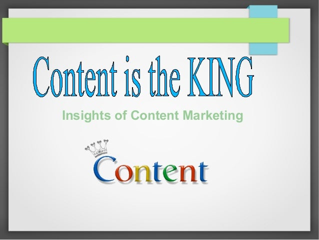 Insights of Content Marketing