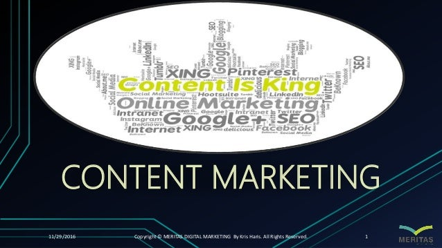 Title Layout SUBTITLE CONTENT MARKETING 11/29/2016 Copyright © MERITAS DIGITAL MARKETING By Kris Haris. All Rights Reserve...