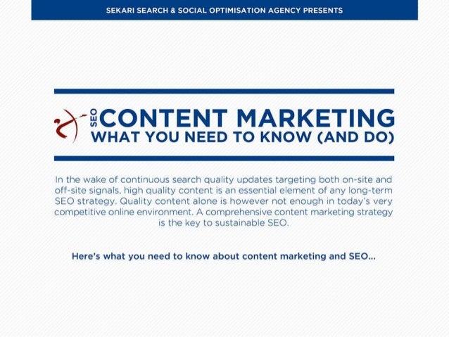 Sekari Search Optimised Content Marketing