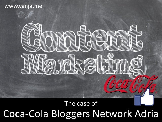 Coca-Cola Bloggers Network Adria The case of www.vanja.me