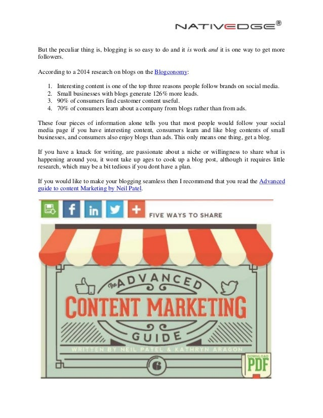 Content marketing why your business needs a blog nativedge
