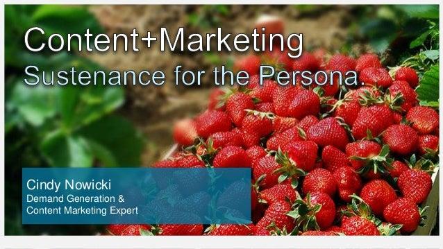 Cindy Nowicki Demand Generation & Content Marketing Expert