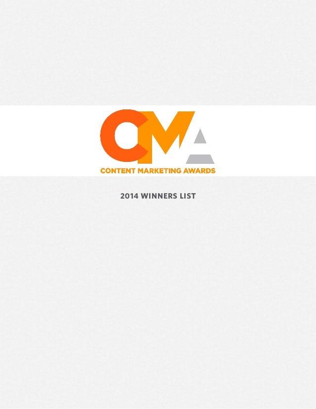 2013 2014 Winners list