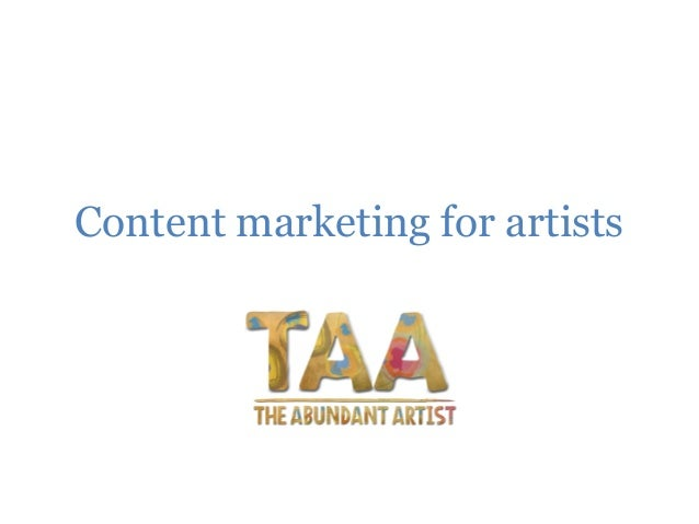 Content marketing for artists