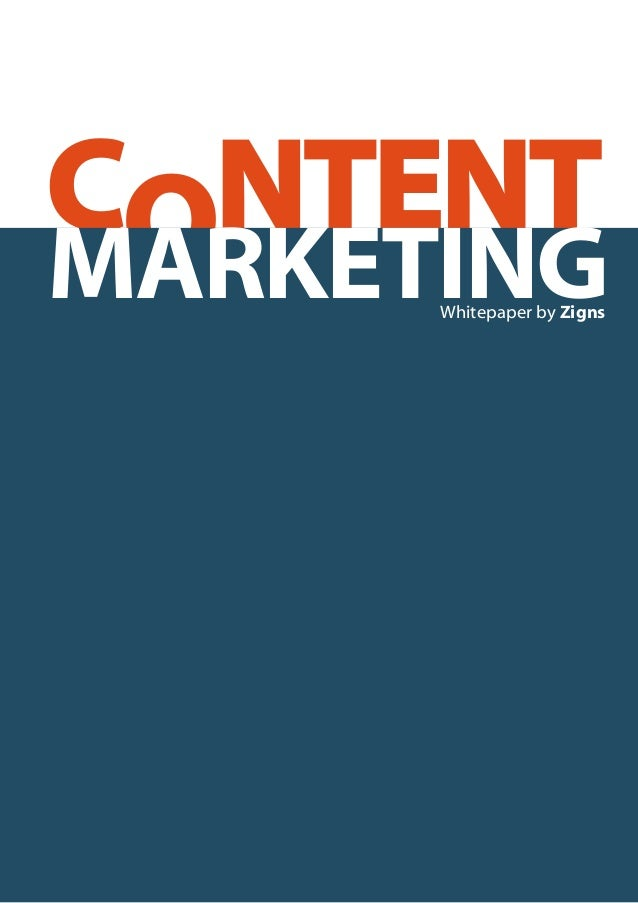 CONTENT Whitepaper by Zigns MARKETING