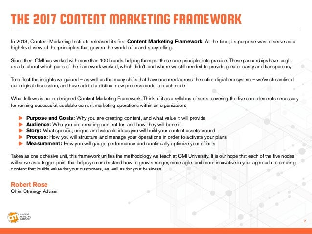 The  Content Marketing Framework