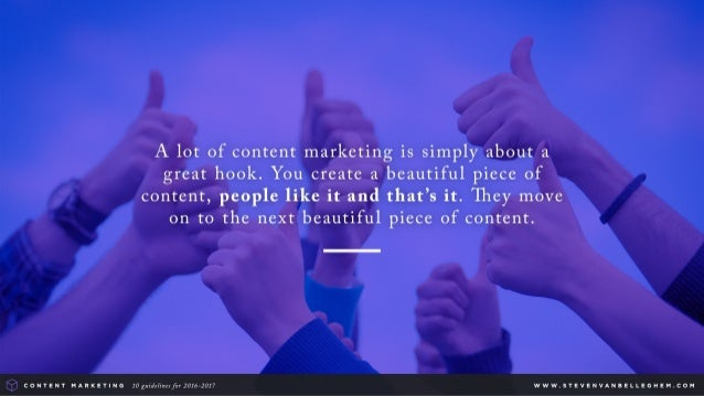 Content marketing guidelines 2016  2017